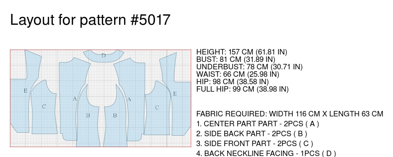 Short Waistcoat - Sewing Pattern #5017. Made-to-measure sewing ...