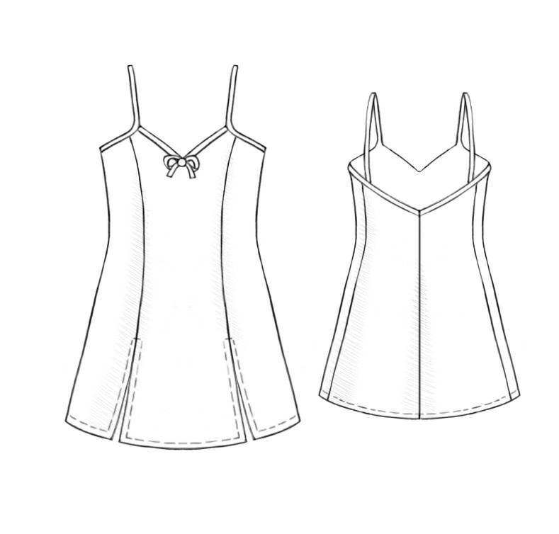 Nightdress Sewing Pattern 5241 Made To Measure Sewing Pattern