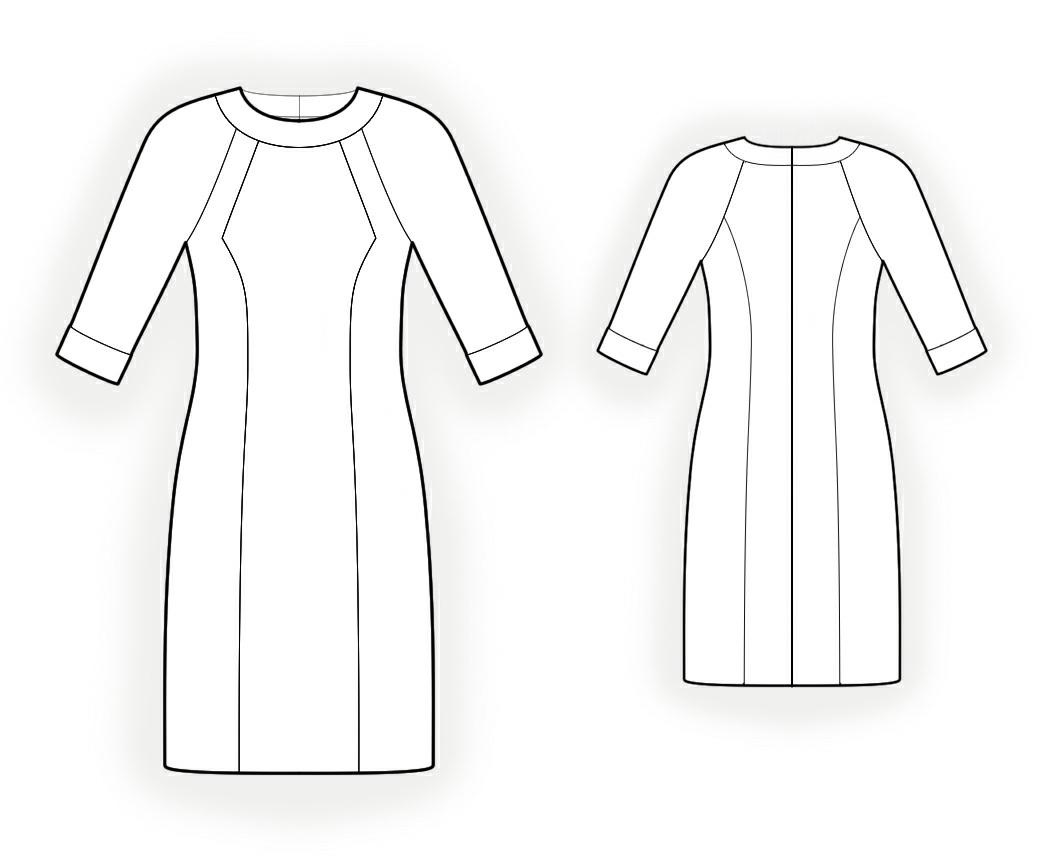 мы предлагаем, дается в натуральную величину и Выкройка платья с рукавами покроя реглан