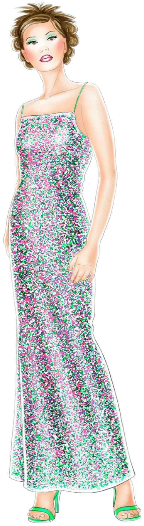 Выкройка платье с пайетками