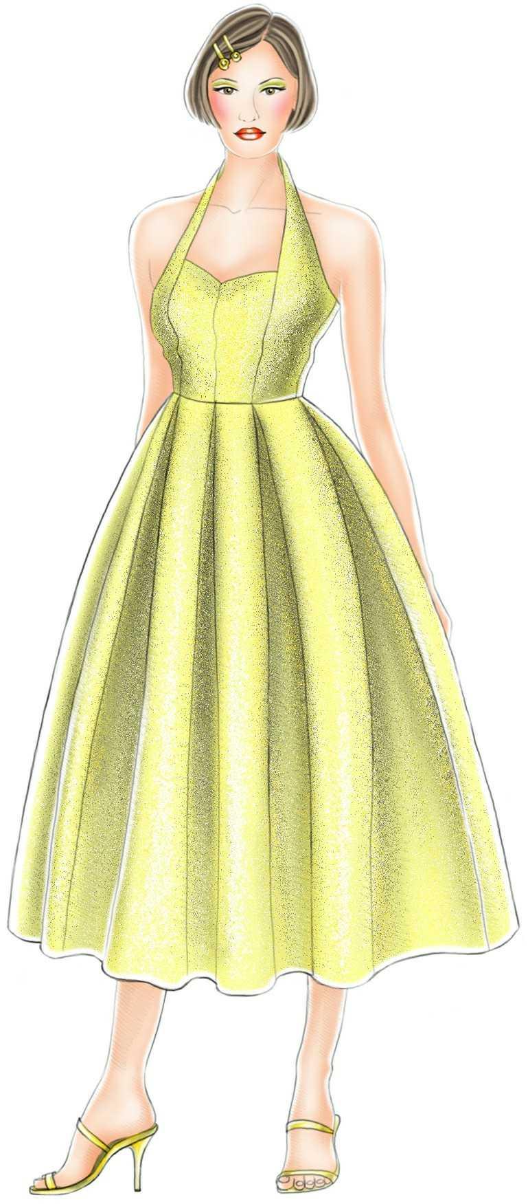Ball Dress - Sewing Pattern #5195. Made-to-measure sewing pattern ...