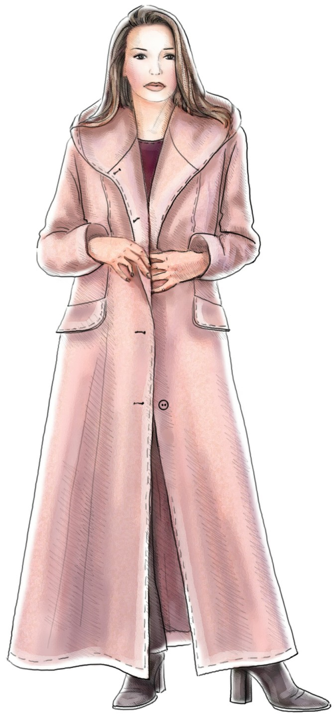 Long coat with hood sewing pattern 5186 made to measure sewing long coat with hood sewing pattern 5186 jeuxipadfo Choice Image