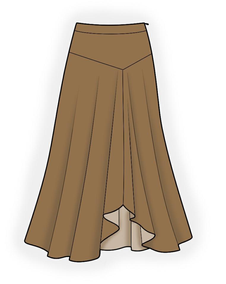 Long Skirt Sewing Pattern 10