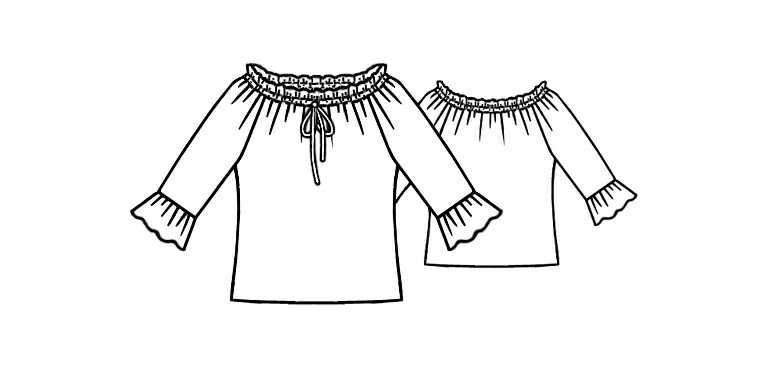 Как сшить блузку испанку 61