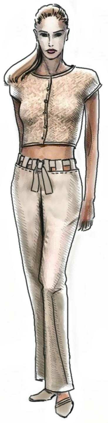 Silk Pants Sewing Pattern 5061 Made To Measure Sewing Pattern