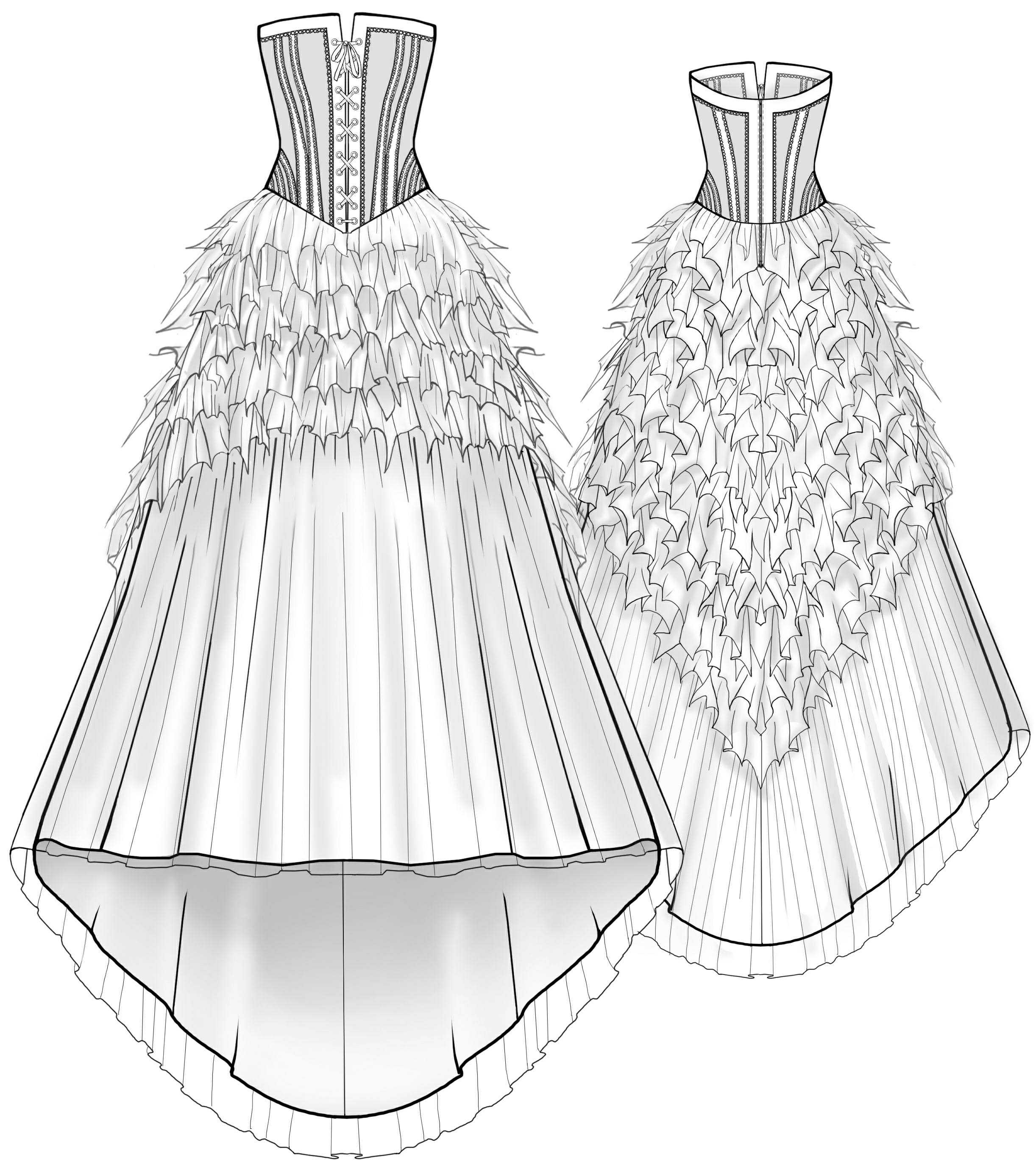 Wedding dress sewing pattern 2001 made to measure for Wedding dress patterns free download