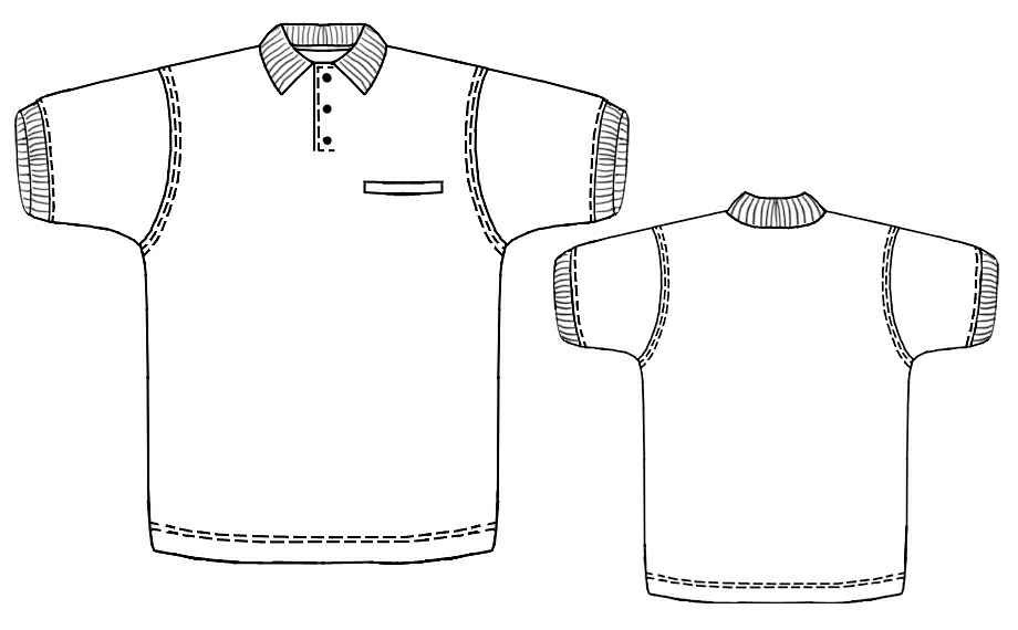 Polo Shirt Sewing Pattern 6120 Made To Measure Sewing Pattern