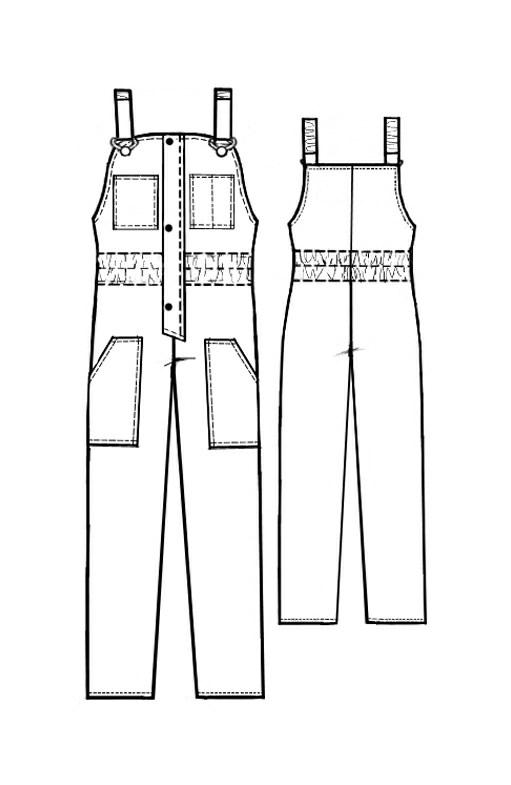 Выкройка мужского полукомбинезона - Основы кроя и шитья