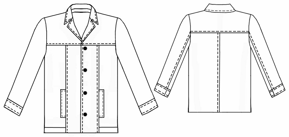 Leather Jacket Sewing Pattern 6046 Made To Measure Sewing