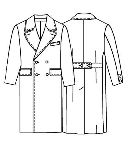 Coat - Sewing Pattern #6015. Made-to-measure sewing pattern from ...