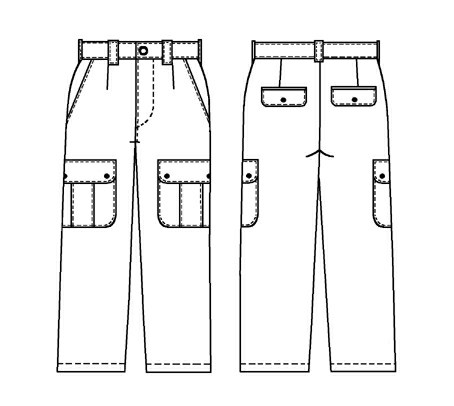 Trousers With Big Patch Pockets Sewing Pattern 6004