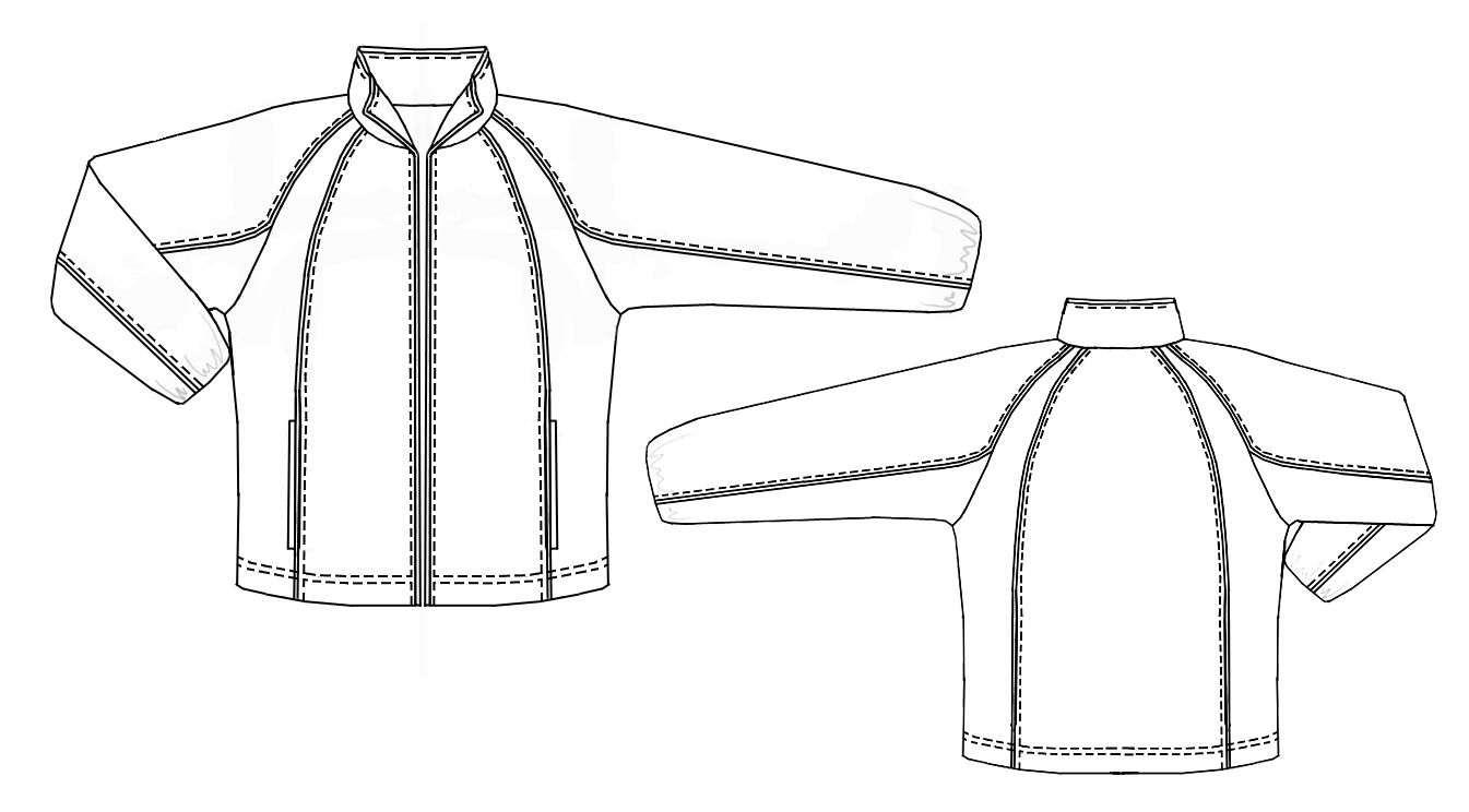Выкройка мужской куртки рукав реглан