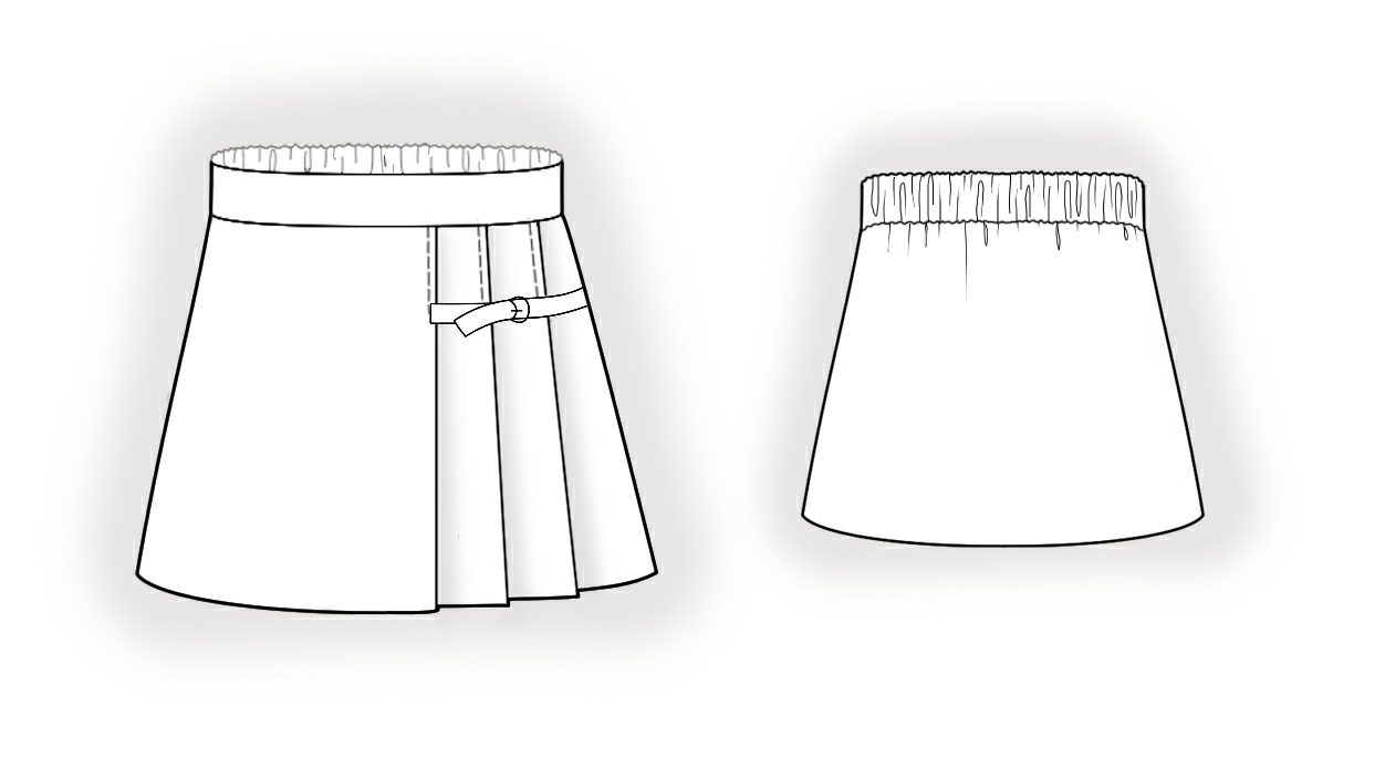 Детские школьные юбки с выкройкой