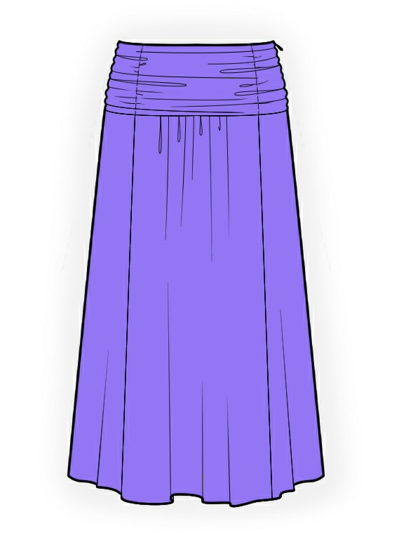 Long Skirt - Sewing Pattern #4137. Made-to-measure sewing pattern ...