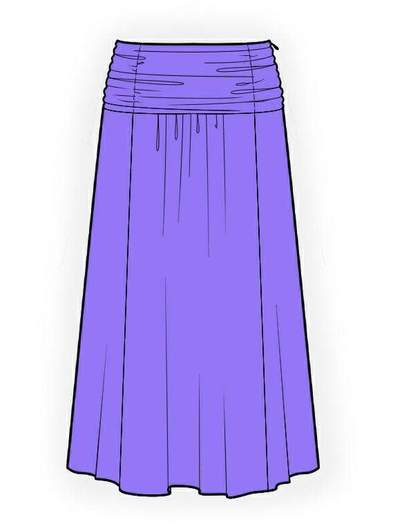 Long Skirt Sewing Pattern 39