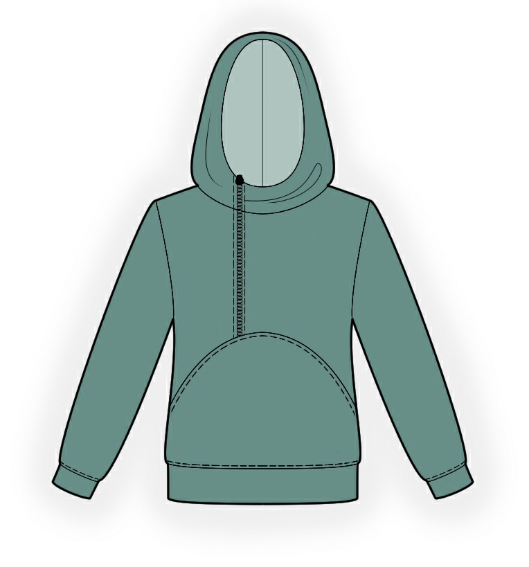Hoodie Sewing Pattern 4341 Made To Measure Sewing Pattern From
