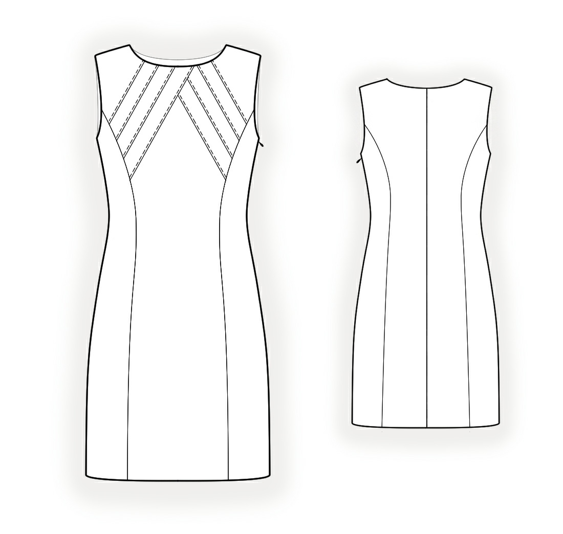 Dress With Decorative Bodice Sewing Pattern 4347 Made