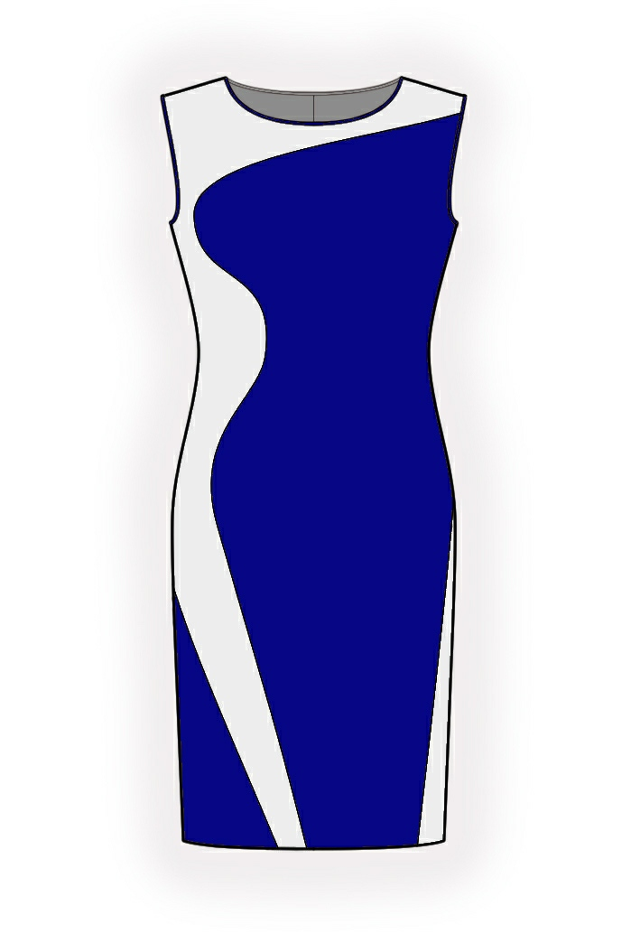 Two-Color Dress - Sewing Pattern #4349. Made-to-measure sewing ...