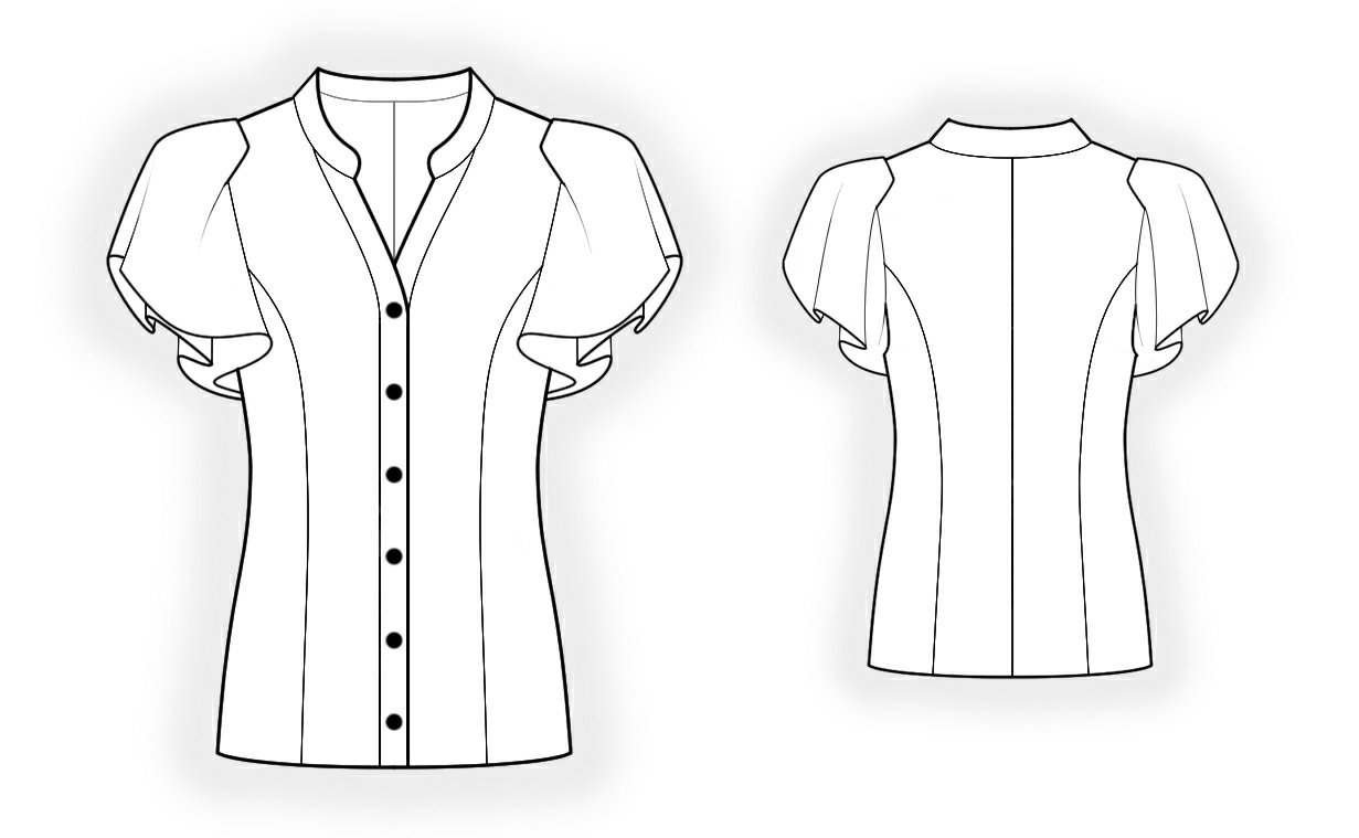 Blouse Drawing And Cutting 11