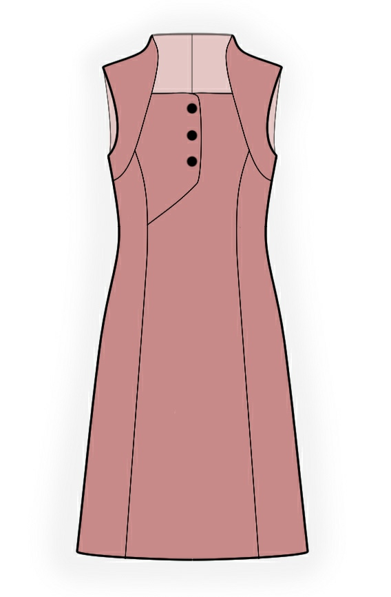 Dress - Sewing Pattern #4371. Made-to-measure sewing pattern from ...