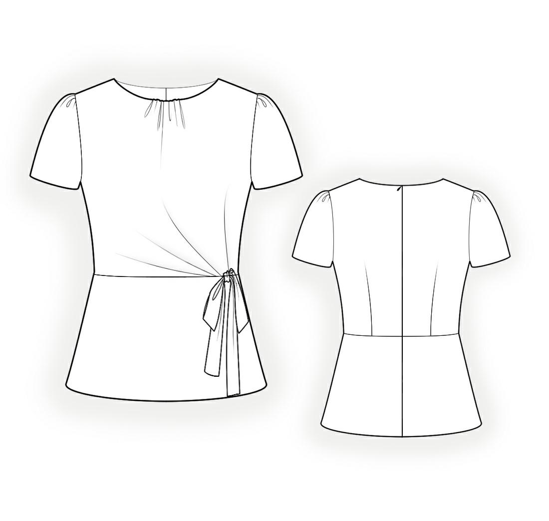 Модные рисунки блузок