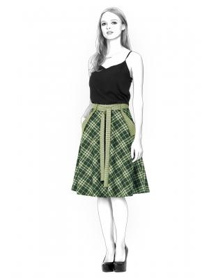 Skirt With Pockets - Sewing Pattern #4381. Made-to-measure sewing ...