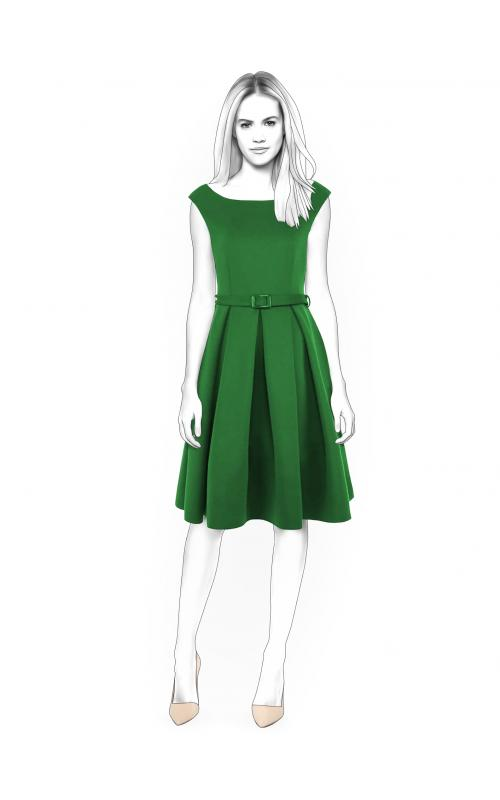 Dress With Open Shoulders - Sewing Pattern #4400. Made-to-measure ...