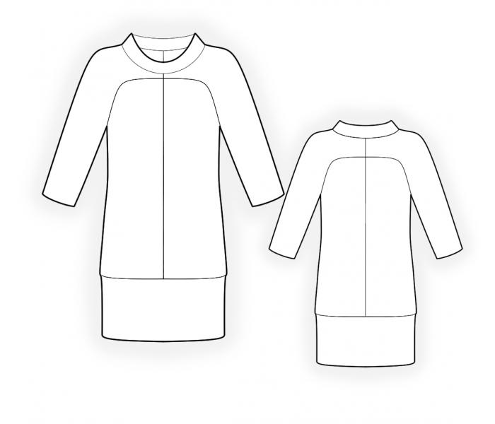 Tunic From Knit Fabric - Sewing Pattern #4412. Made-to-measure sewing pattern...
