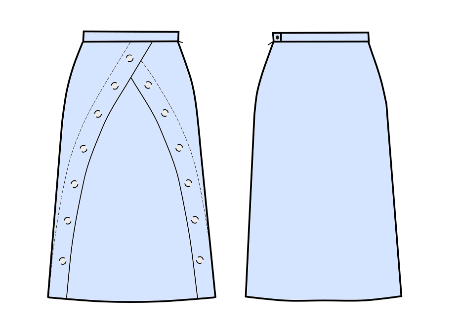 A-Line Skirt - Sewing Pattern #S3020. Made-to-measure sewing pattern ...