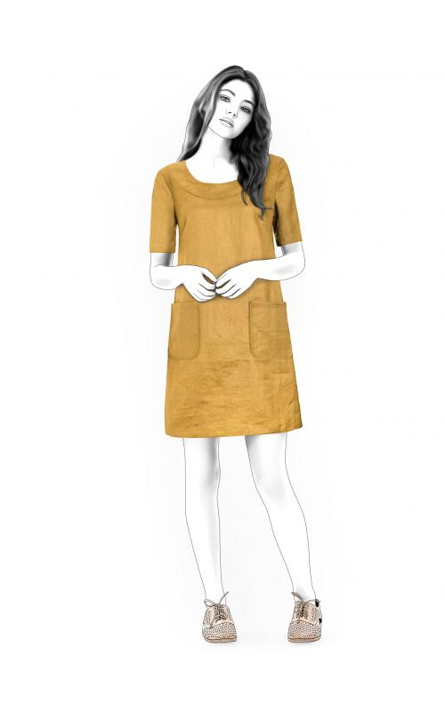 Simple Dress - Sewing Pattern #4517. Made-to-measure sewing pattern ...