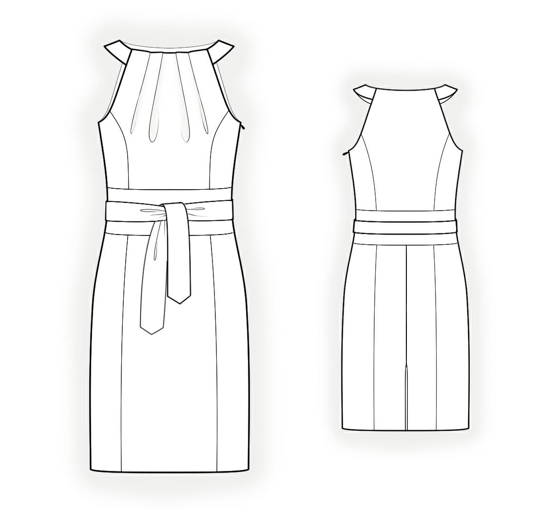 Lekala Sewing Patterns - Halter neck