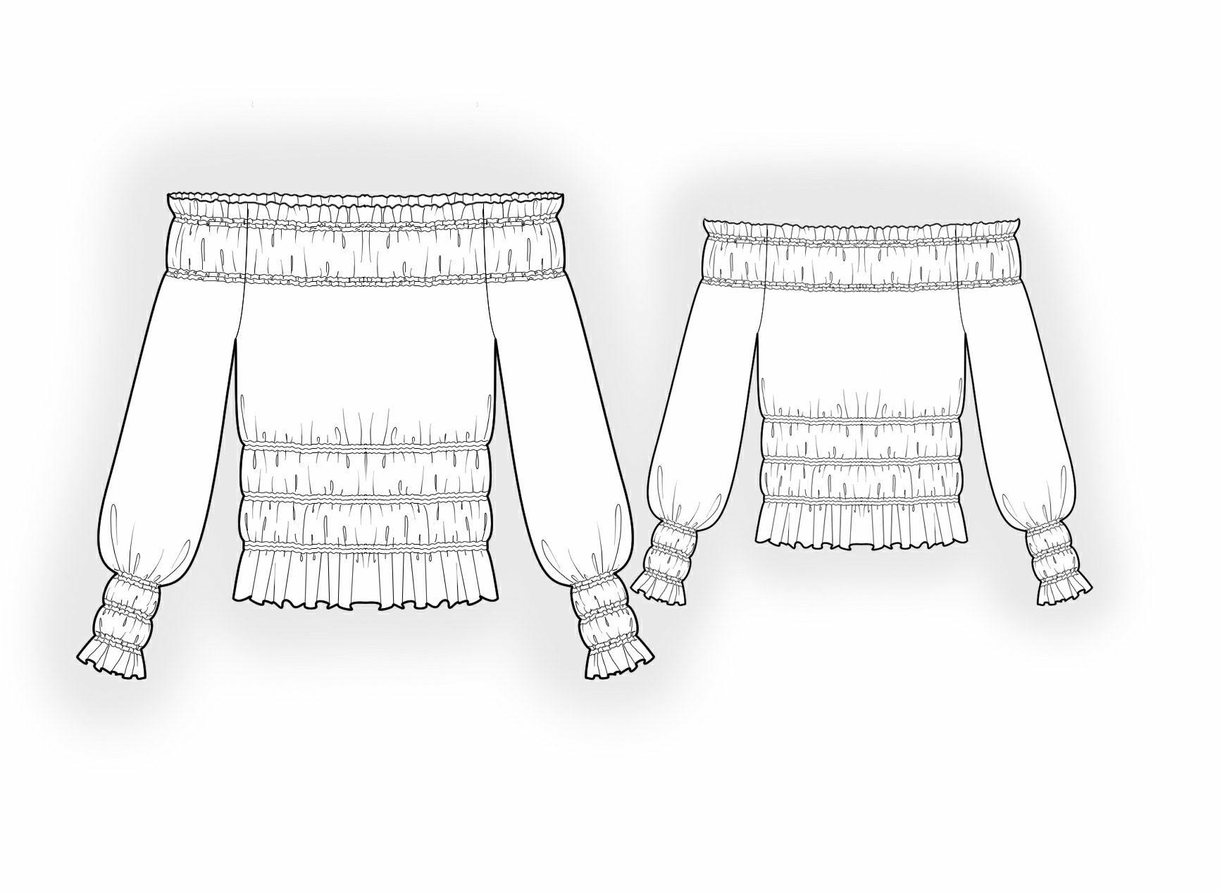 Как сшить блузку на резинке 52