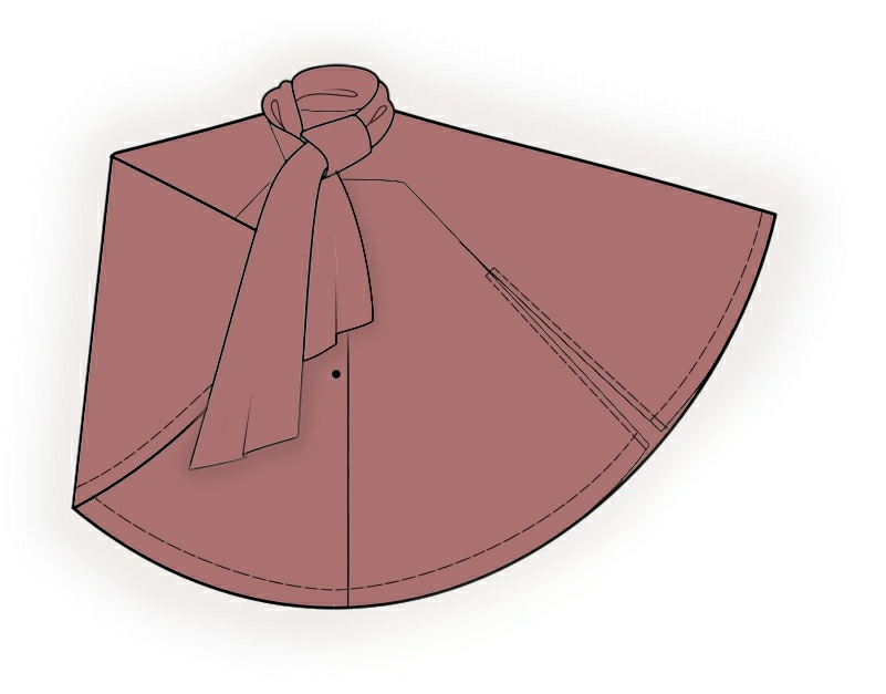Poncho With Scarf Collar - Sewing Pattern #4280. Made-to-measure ...