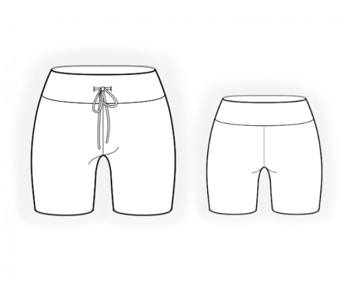 Knit Shorts - Sewing Pattern #2048. Made-to-measure sewing ...