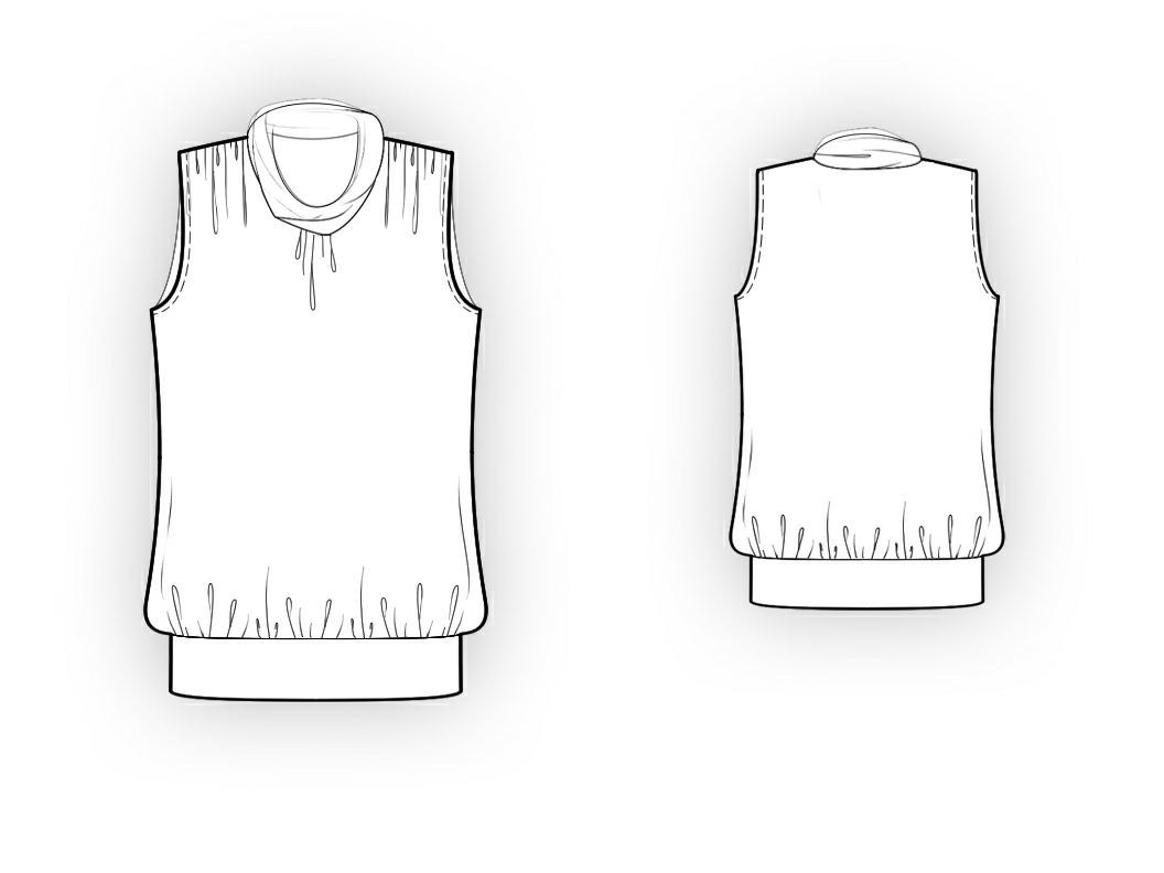 Sewing Pattern For Sleeveless Blouse 36