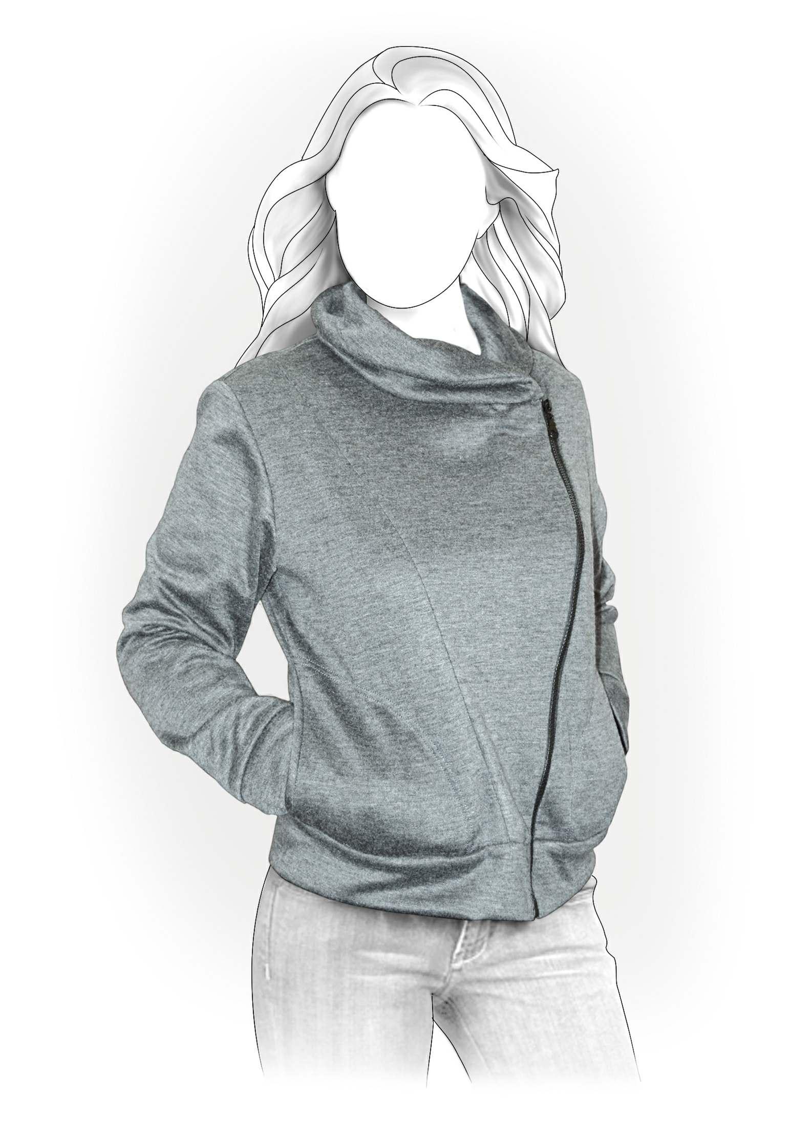 Sweatshirt Sewing Pattern 4011 Made To Measure Sewing
