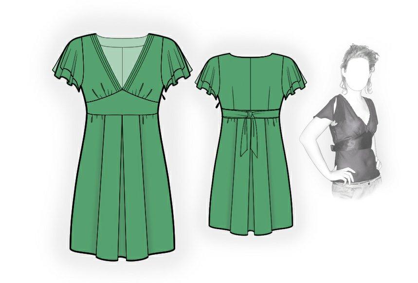 Silk Dress Sewing Pattern 4008 Made To Measure Sewing Pattern