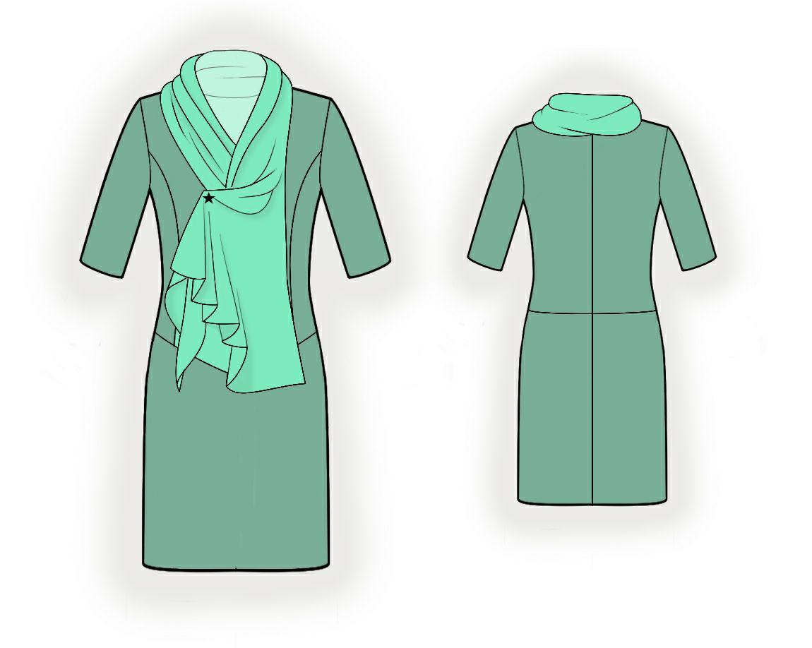 Как сделать воротник качели на платье