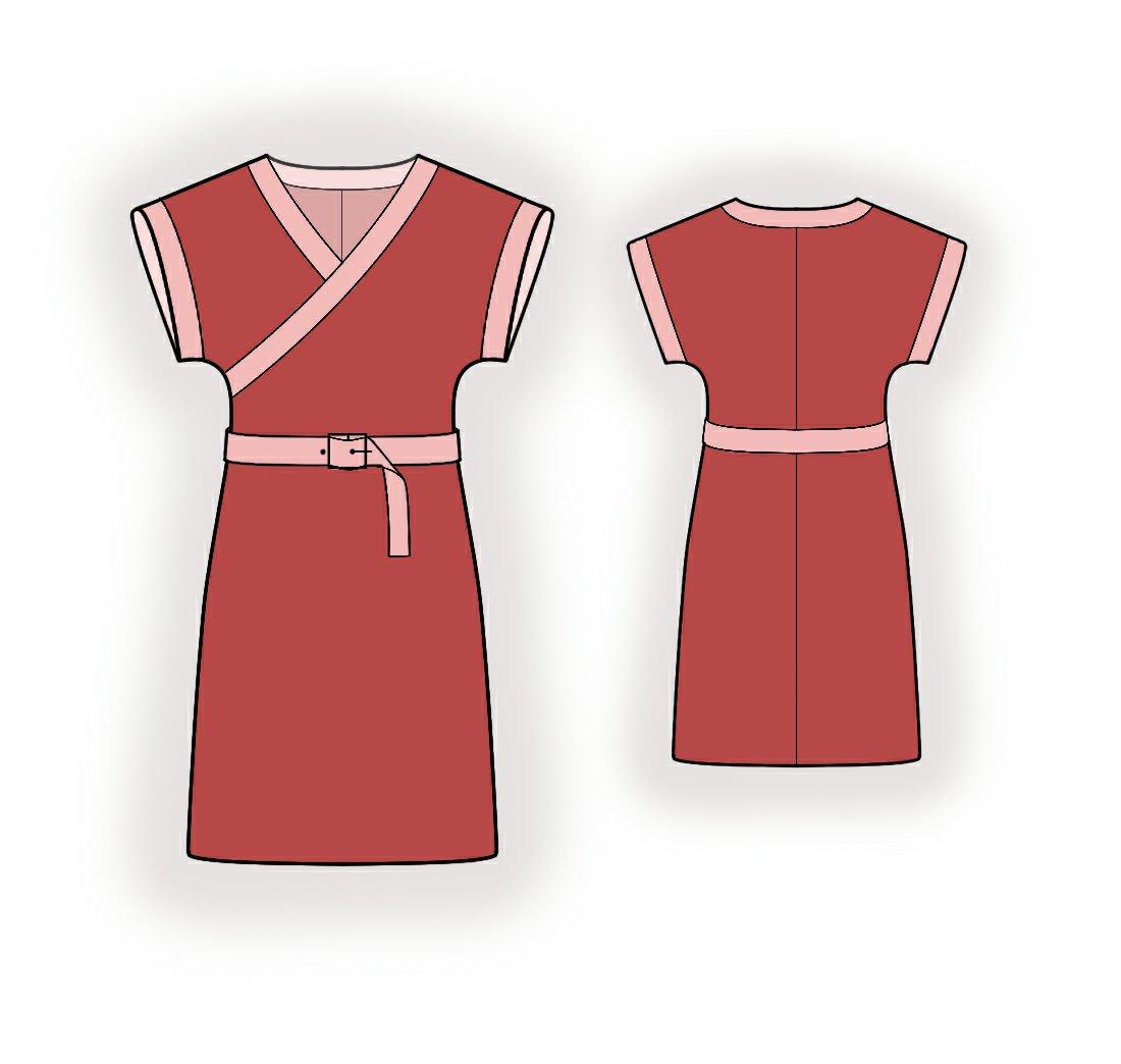 Knit Fabric Dress Pattern : Dress From Knit Fabric - Sewing Pattern #5959. Made-to-measure sewing pattern...