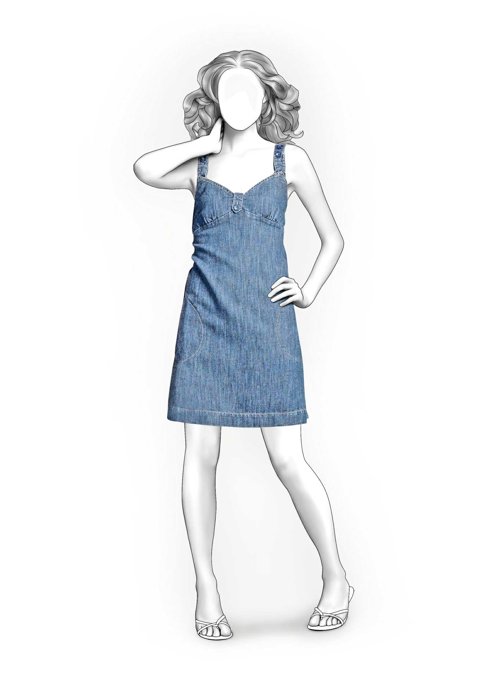 вырез качели на платье