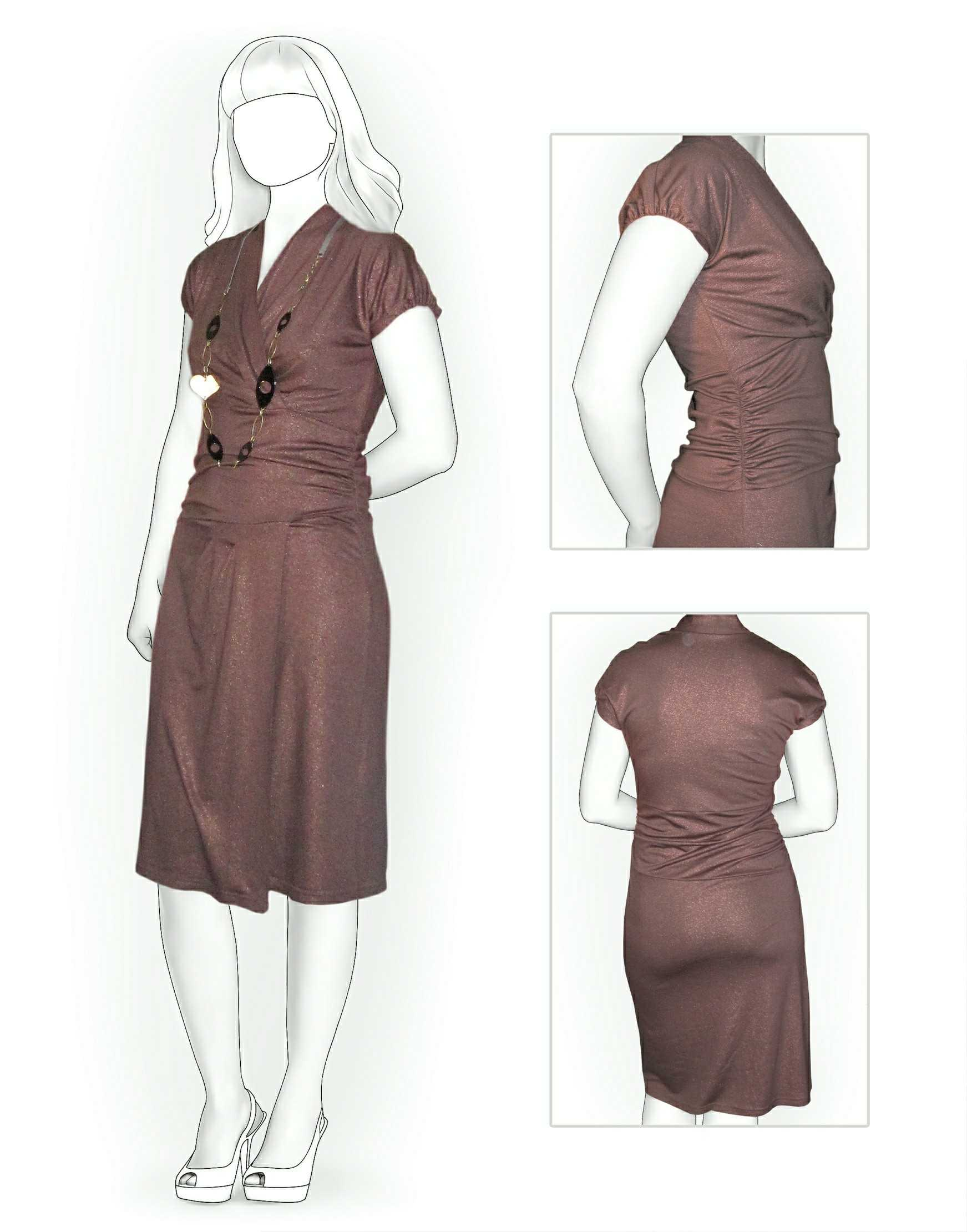 Dress From Knit Fabric - Sewing Pattern #5854. Made-to-measure sewing pattern...