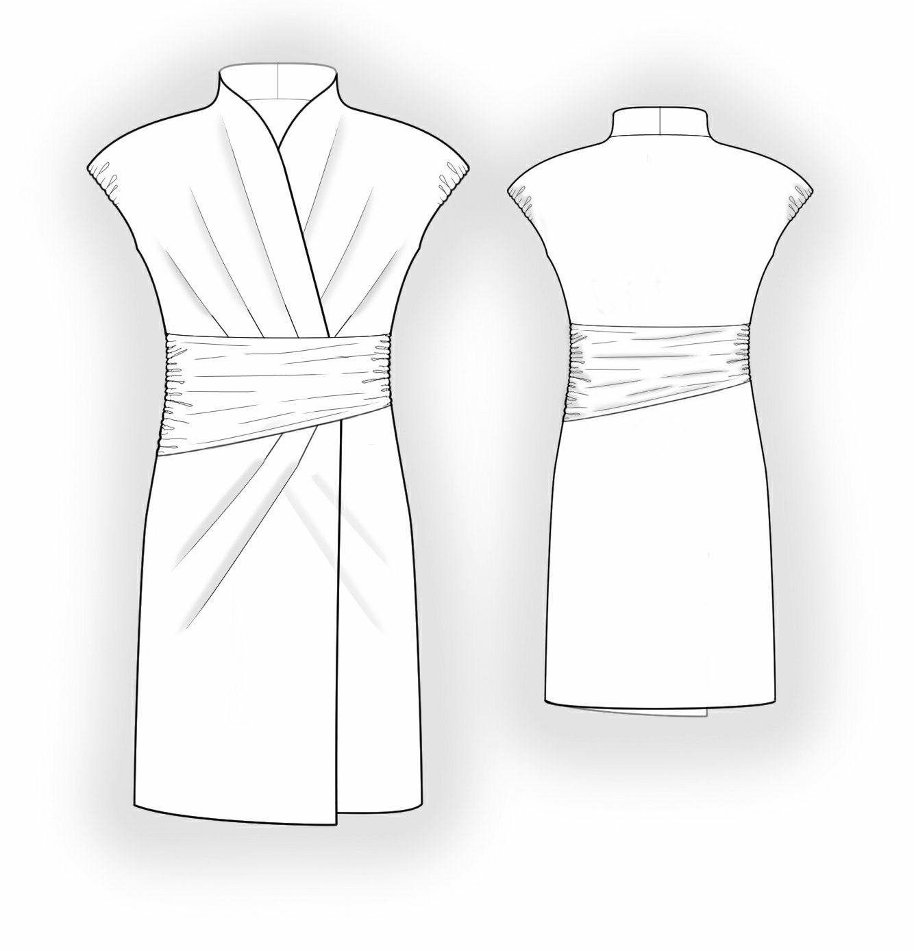 Knit Fabric Dress Pattern : Dress From Knit Fabric - Sewing Pattern #5854. Made-to-measure sewing pattern...