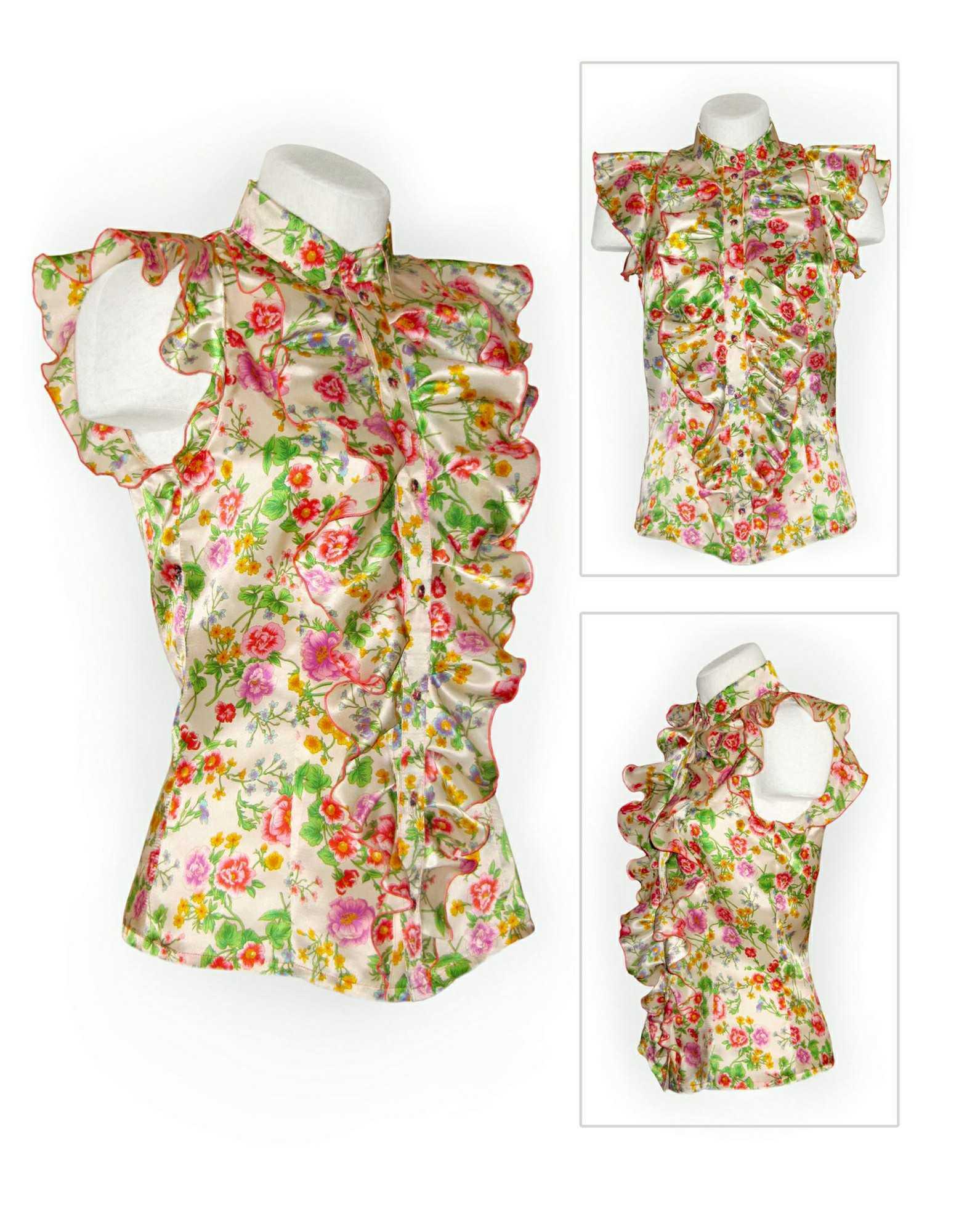 Сшить блузку с рюшами своими руками