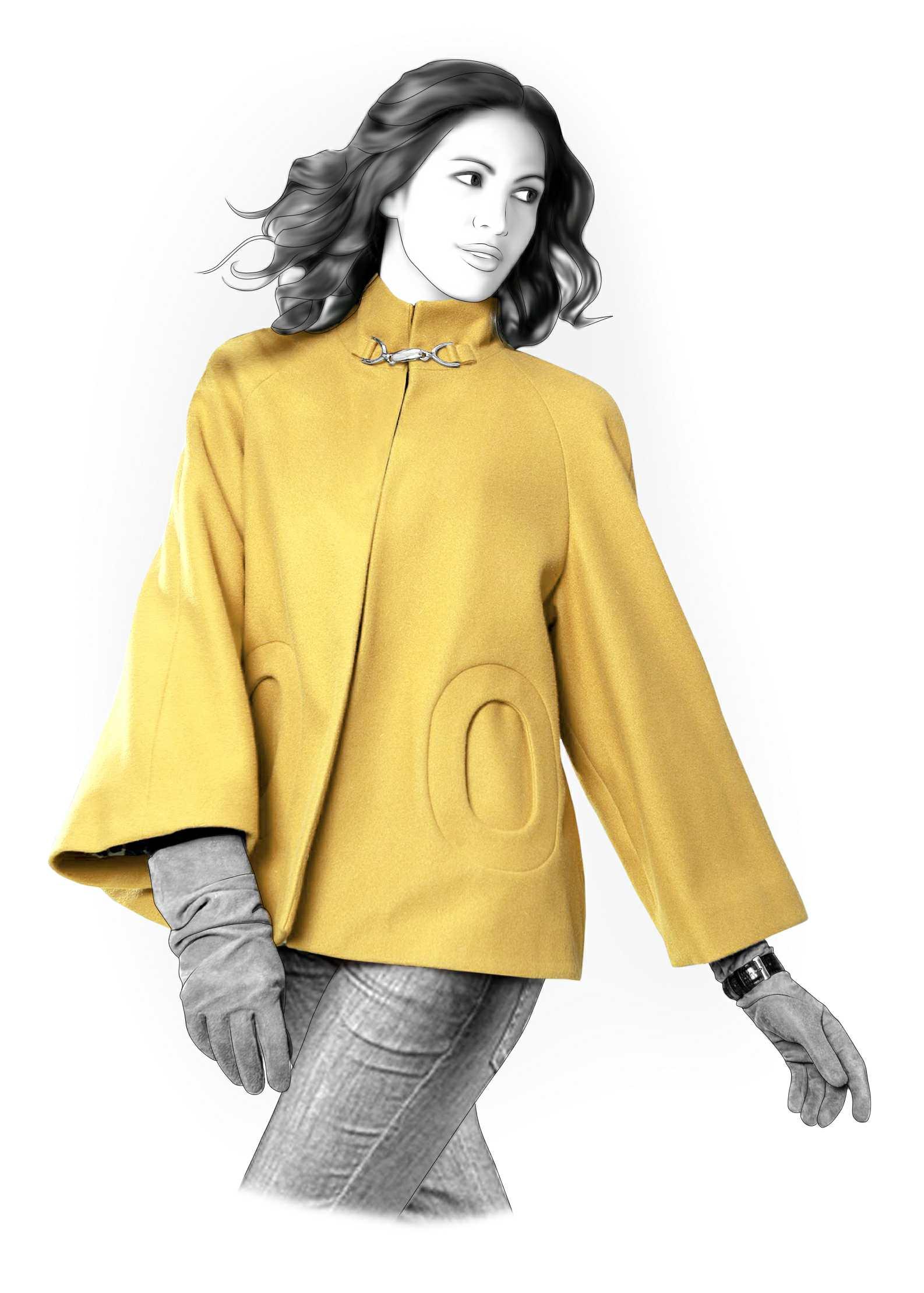Пальто пончо: выбираем фасон и учимся шить своими руками 12