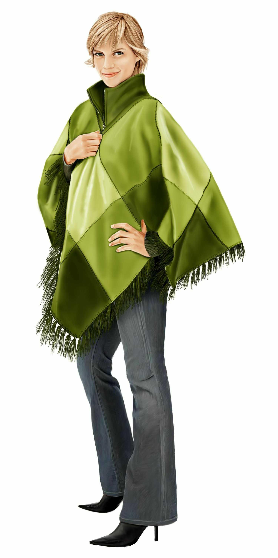Пальто пончо: выбираем фасон и учимся шить своими руками 39