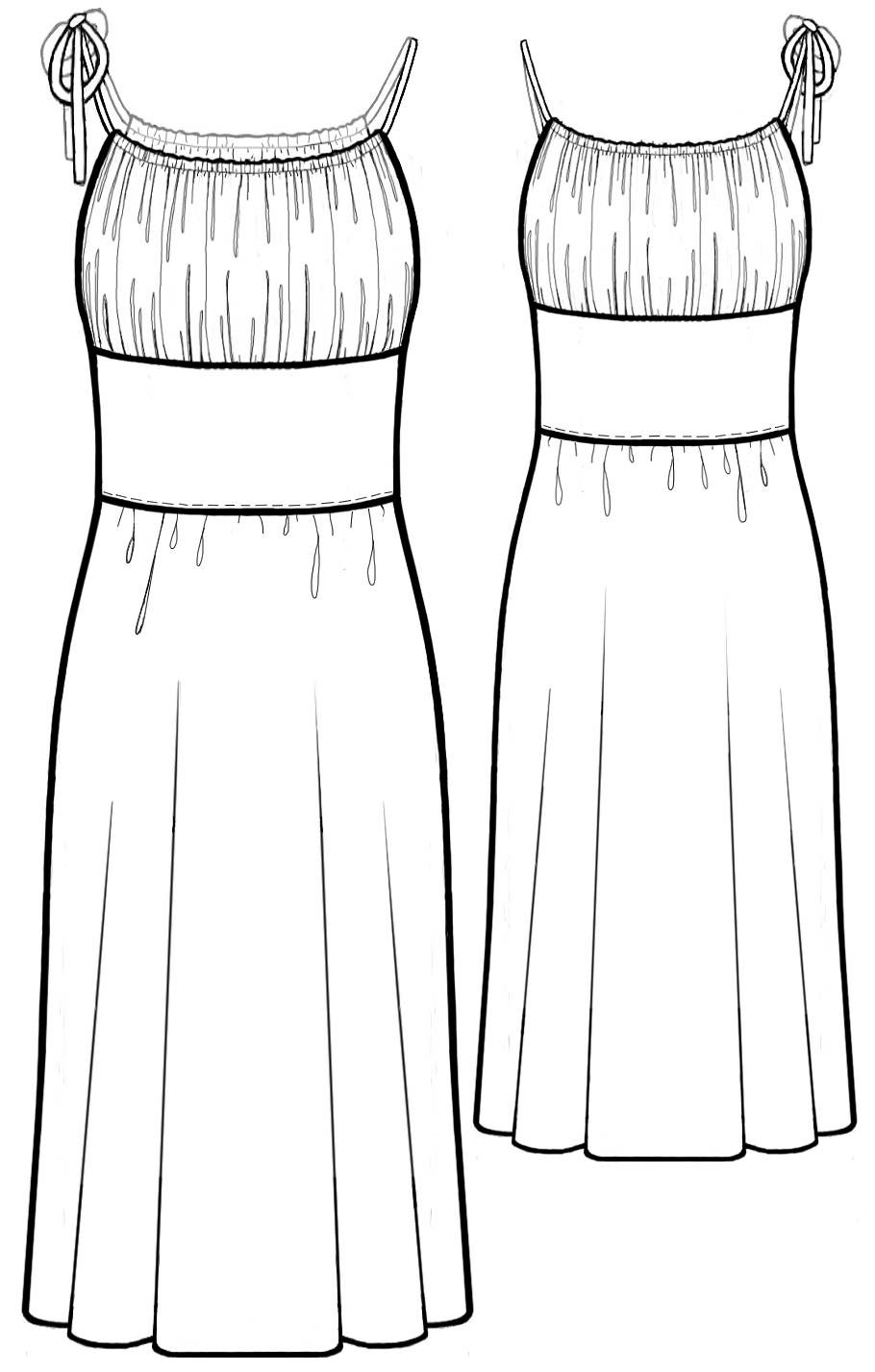 Dress With Gathered Bodice Sewing Pattern 5582 Made To