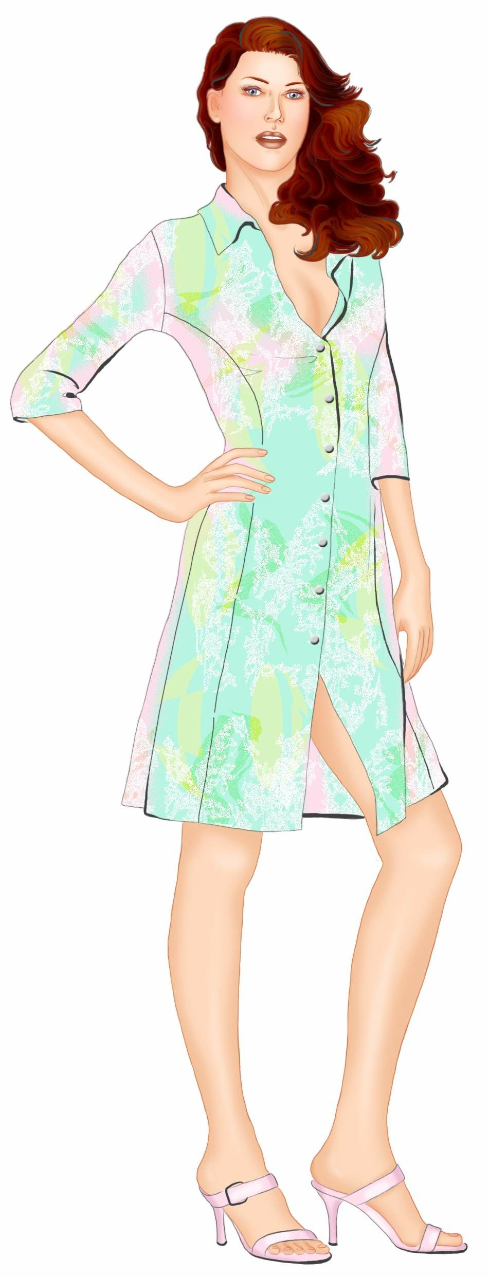 Shirt Dress Sewing Pattern 5558 Made To Measure Sewing