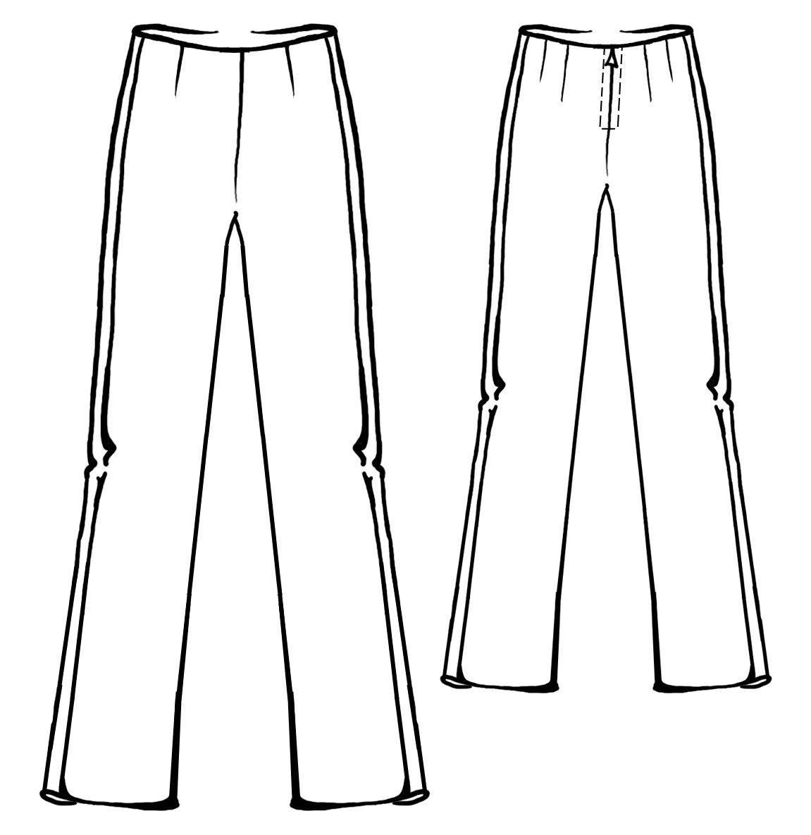 Pants With Stripes Sewing Pattern 5326 Made To Measure
