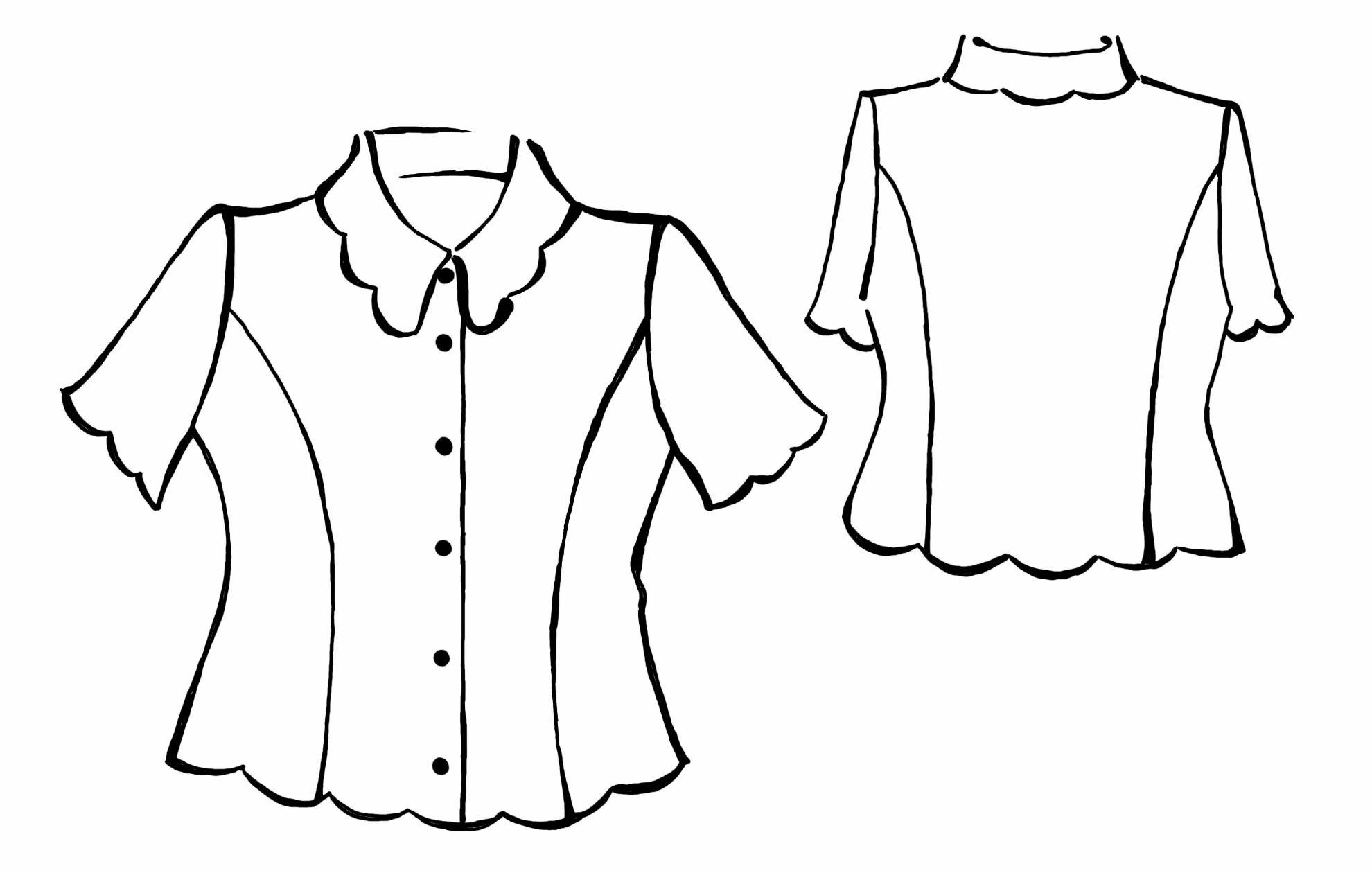 Рисунки на блузках