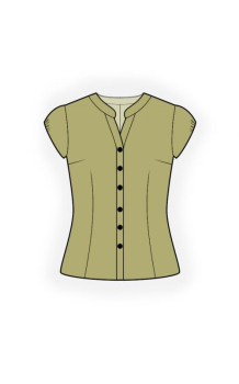 Blouse With Short Sleeves - Sewing Pattern #4439